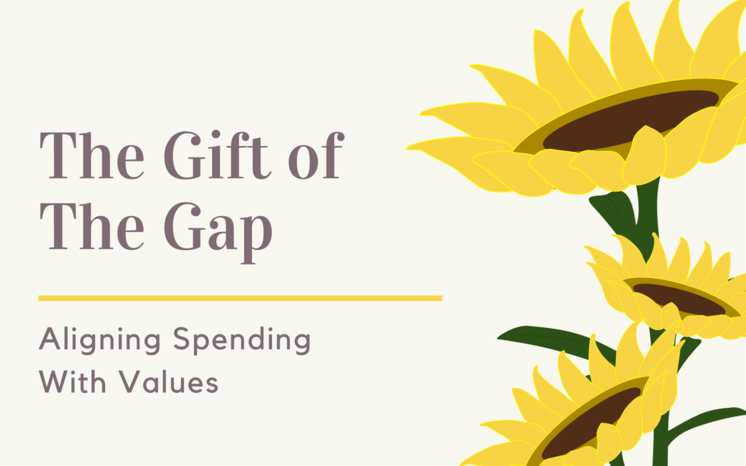 The Gift of the Gap: Aligning Spending with Values